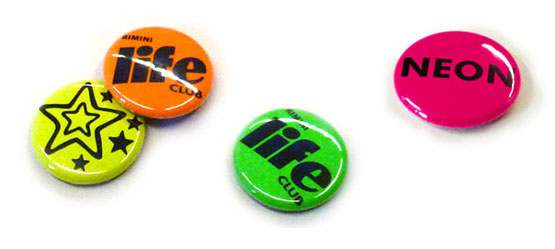 Buttons in neon